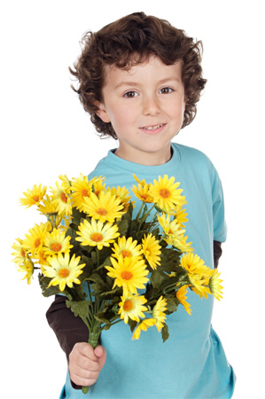Boy-giving-flowers